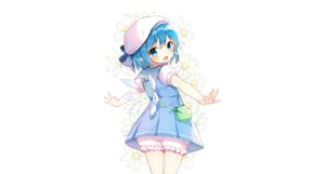 Rating: Safe Score: 61 Tags: aqua_eyes aqua_hair bloomers bow cirno dress fairy flowers hat loli pointed_ears seifuku shinoba short_hair touhou white wings User: luckyluna