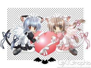 Rating: Safe Score: 14 Tags: animal_ears catgirl gagraphic logo maid nekoneko watermark User: Oyashiro-sama