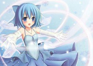 Rating: Safe Score: 51 Tags: blue_eyes blue_hair blush bow cirno fairy short_hair touhou wings User: HawthorneKitty