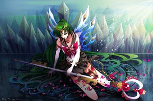 Rating: Safe Score: 34 Tags: chain elbow_gloves gloves green_hair long_hair meiou_setsuna sailor_moon sailor_pluto school_uniform staff User: Chijo