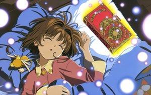 Rating: Safe Score: 13 Tags: bed book brown_hair card_captor_sakura clamp kero kinomoto_sakura scan short_hair sleeping User: RyuZU