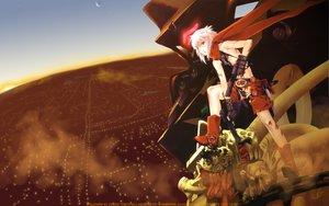 Rating: Safe Score: 65 Tags: bakuretsu_tenshi blonde_hair gun jo landscape mecha red_eyes scenic sky weapon User: Maboroshi