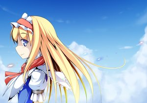 Rating: Safe Score: 86 Tags: alice_margatroid anni_minto blonde_hair blue_eyes headband long_hair sky touhou User: C4R10Z123GT