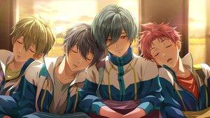 Rating: Safe Score: 6 Tags: aliasing all_male free! kirishima_ikuya male nanase_haruka shiina_asahi sleeping tachibana_makoto zattape User: mattiasc02