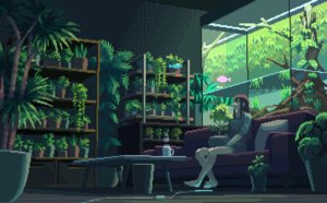 Rating: Safe Score: 37 Tags: animal animated barefoot brown_hair couch fish flowers long_hair original setamo_map tree waifu2x User: RyuZU