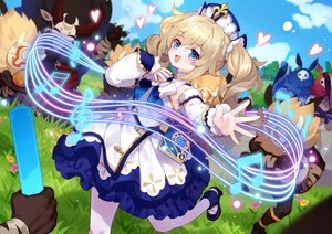 Rating: Safe Score: 36 Tags: barbara_(genshin_impact) blonde_hair blue_eyes genshin_impact music pantyhose tsubasa_tsubasa twintails User: Dreista