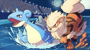 Rating: Safe Score: 19 Tags: arcanine fire lapras peron_(niki2ki884) pokemon signed water User: otaku_emmy