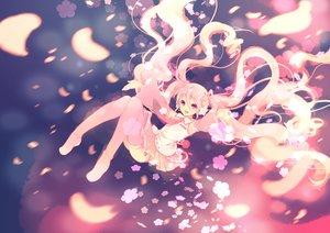 Rating: Safe Score: 27 Tags: boots flowers hatsune_miku honda_tamanosuke long_hair petals pink_eyes pink_hair polychromatic sakura_miku skirt thighhighs tie twintails vocaloid User: luckyluna