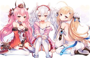 Rating: Safe Score: 125 Tags: abandon_ranka animal animal_ears anthropomorphism ass azur_lane blonde_hair bunny_ears eldridge_(azur_lane) gloves hamakaze_(azur_lane) horns laffey_(azur_lane) loli long_hair panties pink_hair red_eyes thighhighs twintails underwear white_hair User: BattlequeenYume
