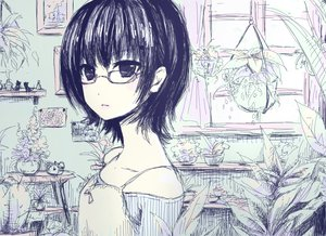 Rating: Safe Score: 73 Tags: glasses polychromatic sketch tsubaki_ki User: Maho