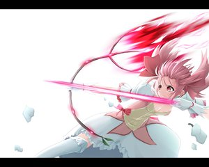 Rating: Safe Score: 22 Tags: bow bow_(weapon) dress kaname_madoka mahou_shoujo_madoka_magica pink_hair red_eyes weapon User: HawthorneKitty