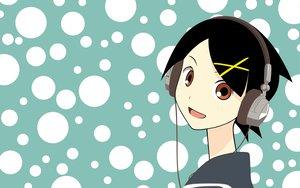 Rating: Safe Score: 6 Tags: fuura_kafuka headphones sayonara_zetsubou_sensei zoku_sayonara_zetsubou_sensei User: 秀悟