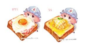 Rating: Safe Score: 60 Tags: blush cat_smile chibi dress food hat mochacot pink_hair red_eyes saigyouji_yuyuko short_hair touhou white User: otaku_emmy
