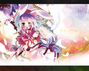 Rating: Safe Score: 42 Tags: animal_ears bunny_ears bunnygirl gun kamiya_yuu weapon User: PAIIS