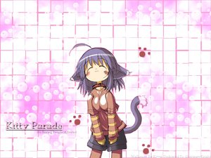 Rating: Safe Score: 31 Tags: animal_ears catgirl cat_smile collar purple_hair summon_night summon_night_2 tail yuel User: Oyashiro-sama