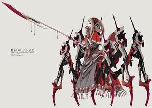 Rating: Safe Score: 131 Tags: blonde_hair dress gradient headdress long_hair mechagirl original palow signed spear weapon User: FormX