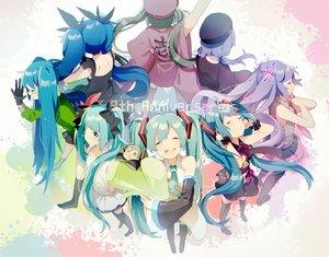 Rating: Safe Score: 60 Tags: deep-sea_girl_(vocaloid) ghost_rule_(vocaloid) hatsune_miku long_hair matryoshka_(vocaloid) senbon-zakura_(vocaloid) tell_your_world_(vocaloid) uiyuzu_(uichoco) vocaloid world_is_mine_(vocaloid) User: FormX