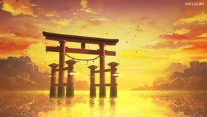 Rating: Safe Score: 24 Tags: animal bird clouds mclelun nobody original reflection scenic sky sunset torii water User: RyuZU