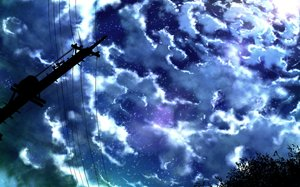 Rating: Safe Score: 81 Tags: clouds kigumo_cho nobody original scenic silhouette sky stars User: Flandre93