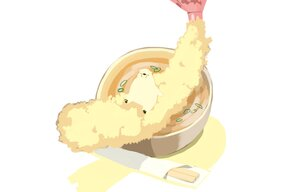 Rating: Safe Score: 9 Tags: animal bear chai_(artist) food nobody original polychromatic signed white User: otaku_emmy