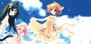 Rating: Safe Score: 49 Tags: animal_ears bunnygirl catgirl doggirl dress i.s.w. loli pure_pure sachi_(pure_pure) sakurazawa_izumi scan summer_dress tagme_(character) tail tobari User: Xtea