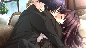 Rating: Safe Score: 34 Tags: akasabi_risa akio aoi_tori blue_eyes blush brown_hair game_cg kiss koku long_hair male purple_software shiratori_ritsu short_hair User: RyuZU