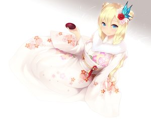 Rating: Safe Score: 85 Tags: aqua_eyes blonde_hair boku_wa_tomodachi_ga_sukunai cait cropped drink japanese_clothes kashiwazaki_sena kimono sake white User: Nepcoheart
