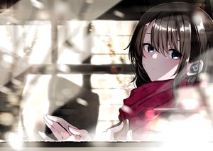 Rating: Safe Score: 50 Tags: black_hair blue_eyes close fuu_(fuore) headphones original scarf User: RyuZU