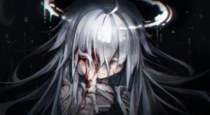 Rating: Safe Score: 65 Tags: bandage black blood close dark gray_hair halo kajaneko loli long_hair original User: luckyluna