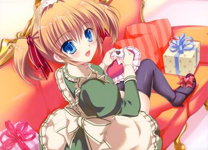 Rating: Safe Score: 62 Tags: blue_eyes brown_hair maid mikeou original pink_chuchu thighhighs twintails User: Wiresetc