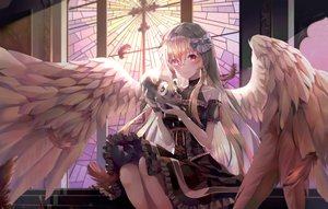 Rating: Safe Score: 74 Tags: goth-loli han_seol lolita_fashion original wings User: sadodere-chan