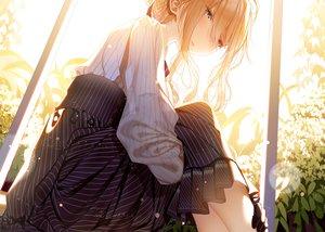 Rating: Safe Score: 78 Tags: aqua_eyes atha braids long_hair skirt violet_evergarden violet_evergarden_(character) User: RyuZU