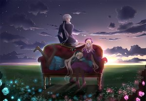 Rating: Safe Score: 30 Tags: blonde_hair couch goth-loli grass hiver_laurant hortense lolita_fashion sky sound_horizon tattoo twins violette User: Tensa