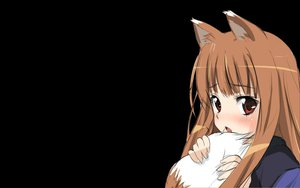 Rating: Safe Score: 51 Tags: animal_ears black duplicate fang horo jpeg_artifacts long_hair ookami_to_koushinryou orange_hair red_eyes tail wolfgirl User: 秀悟