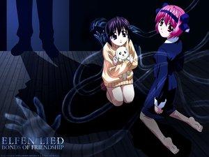 Rating: Safe Score: 20 Tags: animal dark dog elfen_lied mayu_(elfen_lied) nana_(elfen_lied) pink_hair red_eyes short_hair User: Oyashiro-sama