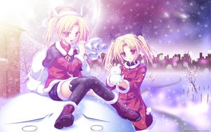 Rating: Safe Score: 53 Tags: blonde_hair game_cg magus_tale nina_geminis rena_geminis snow tenmaso whirlpool User: 秀悟