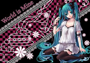 Rating: Safe Score: 37 Tags: hatsune_miku long_hair twintails vocaloid world_is_mine_(vocaloid) User: Zloan