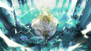 Rating: Safe Score: 45 Tags: enkidu fate/grand_order fate_(series) green_eyes green_hair long_hair rsef User: FormX