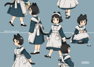 Rating: Safe Score: 25 Tags: akai_sashimi animal_ears apron black_eyes black_hair blue catgirl headdress loli maid original short_hair socks tail User: otaku_emmy