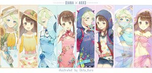 Rating: Safe Score: 58 Tags: aqua_eyes bandaid baseball_bat brown_eyes brown_hair chinese_clothes chinese_dress choker diana_cavendish ekita_xuan fan flowers food green_hair halo hat headdress hoodie horns kagari_atsuko little_witch_academia long_hair navel necklace shorts skirt sunflower waifu2x watermark User: otaku_emmy