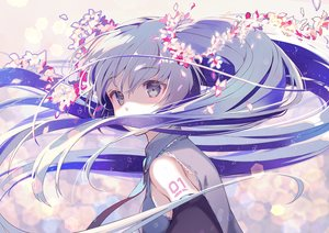 Rating: Safe Score: 72 Tags: blue_eyes blue_hair close flowers gin_(oyoyo) hatsune_miku long_hair petals polychromatic tattoo tie twintails vocaloid User: FormX
