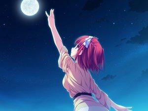 Rating: Safe Score: 79 Tags: game_cg moon night purple_eyes red_hair ribbons short_hair stars suzukaze_no_melt tenmaso tsubaki_nazuna whirlpool User: Wiresetc