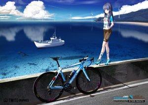 Rating: Safe Score: 36 Tags: bicycle bike_shorts hitomi_kazuya long_hair original shorts skintight watermark User: gnarf1975