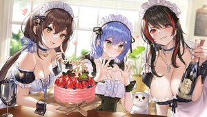 Rating: Safe Score: 82 Tags: black_hair blue_hair brown_eyes brown_hair green_eyes houchi_shoujo long_hair maid red_eyes short_hair tagme_(character) whoisshe User: Fepple