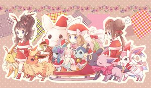 Rating: Safe Score: 96 Tags: bell blonde_hair blue_eyes bow brown_hair christmas eevee espeon flareon flowers glaceon green_hair hat jolteon leafeon mei_(pokemon) n pikachu pokemon ponytail santa_costume santa_hat scarf serena_(pokemon) snow snowman sylveon torute touko_(pokemon) twintails umbreon vaporeon User: C4R10Z123GT