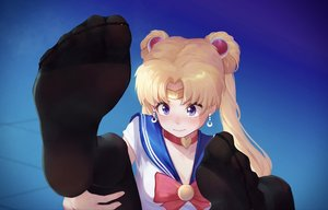 Rating: Safe Score: 45 Tags: blonde_hair blue_eyes choker close headband ice_(dzs1392584271) long_hair pantyhose sailor_moon sailor_moon_(character) school_uniform tsukino_usagi twintails User: FormX