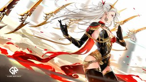 Rating: Safe Score: 101 Tags: gloves irelia league_of_legends long_hair tameiki thighhighs white_hair User: BattlequeenYume