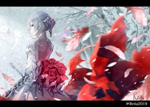 Rating: Safe Score: 51 Tags: dress feathers hoshizaki_reita signed sinoalice snow snow_white_(sinoalice) watermark User: FormX