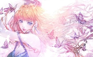 Rating: Safe Score: 21 Tags: butterfly gloves macross macross_frontier orange_hair polychromatic satsuki_kei sheryl_nome sketch User: FormX