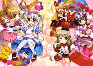 Rating: Safe Score: 61 Tags: alice_in_wonderland animal_ears asteion bicolored_eyes bunny_ears bunnygirl catgirl corona_timir cosplay dress einhart_stratos fate_testarossa fujima_takuya group mahou_shoujo_lyrical_nanoha mahou_shoujo_lyrical_nanoha_vivid miura_rinaldi panties rio_wezley sacred_heart scan tail takamachi_nanoha takamachi_vivio thighhighs underwear User: Wiresetc